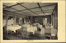 Luzern Lucerne Switzerland ~ 1910 Hotel Du Cygne et Rigi Restaurant Dining Room