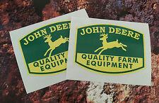 2 X JOHN DEERE STICKERS DECALS Quality Farm Equipment 85mm x 65mm Tractor