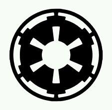 Star Wars Imperial Logo Vinyl Sticker BLACK GLOSS