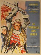 """""""LE MIRACLE DES LOUPS"""" Affiche ressortie entoilée (André HUNEBELLE/ Jean MARAIS)"""