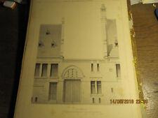 Planche Morgue, dépôt mortuaire et poste de police Bruxelles-Détails façade 1898