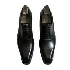 Zapatos de negocios Fulinken para hombre Cuero Real Puntera Cuadrada Novio Boda Derby Oxford L