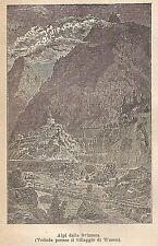 A9210 Veduta presso Wasen - Xilografia - Stampa Antica del 1906 - Engraving