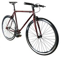 Golden Cycles Fixed Gear Single Speed Bike Bicycle Crimson - 48 52 55 59 CM