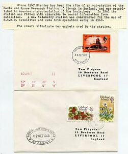 FALKLAND ISLANDS RADIO + SPACE RESEARCH STATION 1968-69 CACHETS