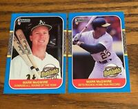 1987 Donruss Highlights Mark McGwire #27 and #54 -A's NM or Better
