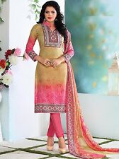 Elegant Crepe Printed Unstitched Dress Material Suit D.No SV1101