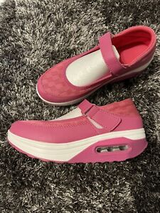 Damen sport Schuhe Laufschuhe Pink, Gr.:38, Mit Klettverschluss, Rundsohle