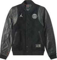 Mens Nike Jordan PSG Paris Saint Germain Destroyer Bomber Jacket #BQ8363-010 XL
