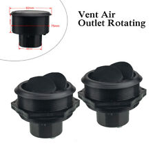 Pair 46mm Car Vent Air Outlet Rotating Round Ceiling Universal For RV ATV A/C
