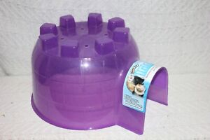Super Pet Medium Igloo The Coolest HideOut for Small Animals Light Purple #60406