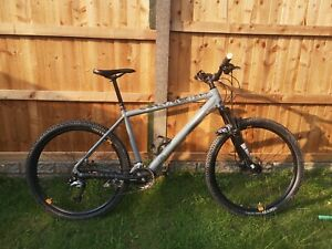 Calibre Two 3 (2 cubed) mens Mountain Bike in Grey Hardtail 27.5 wheels Size L