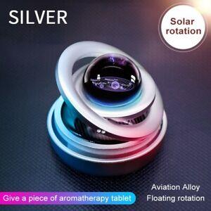 Solar Power Auto Car Rotate Aromatherapy Air Freshener  Perfume Holder Decor New