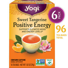 Yogi Tea - Sweet Tangerine Positive Energy - 6 Pack, 96 Tea Bags Total