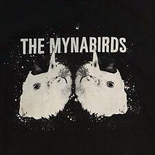 MYNABIRDS band t-shirt MEDIUM indie rock Saddle Creek Bright Eyes