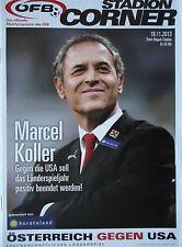 Programm LS 19.11.2013 Österreich Austria - USA