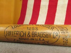 "Vintage Louisville Slugger H&B Wood Baseball Bat 125 Special Ferris Fain 34"""