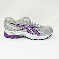 Reebok Womens Flexride RB 1-J21311 Silver Purple Running Shoes Lace Up Size 7.5