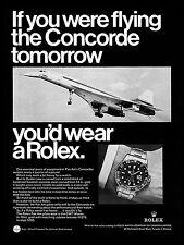 Concorde Advert Rolex, Retro metal Aluminium Sign vintage