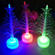 Mini Christmas Tree Color Changing LED Light Lamp Home Room Party Decoration