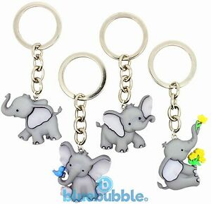 Bluebubble EMMY THE ELEPHANT Keyring Funky Animal Gift Cute Kitsch Novelty Charm