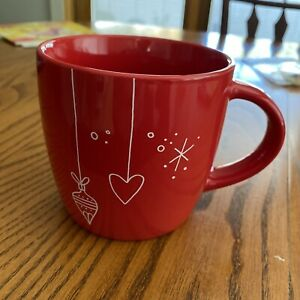 STARBUCKS 2018  Red Christmas Holiday Ornament Ceramic 14 oz Coffee Mug