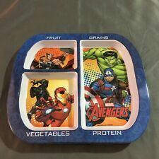 Marvel Avengers Plastic Plate by Zak! Designs