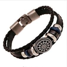 Bracelet Pour Hommes Tressé Cuir Authentique Cuir Bracelet Homme