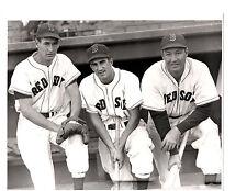TED WILLIAMS JOHNNY PESKY RUDY YORK BOSTON RED SOX   8X10 PHOTO BASEBALL HOF