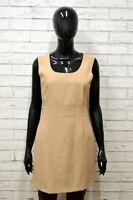 Vestito COCONUDA Donna Taglia Size 44 Abito Dress Tubino Smanicato Cotone Corto