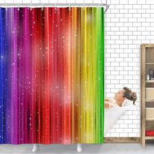 71inch Waterproof Modern Rainbow Shower Curtain Polyester Bathroom Curtain_