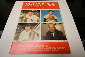 1968 MLB MAJOR LEAGUE BASEBALL OFFICIAL YEARBOOK BOSTON RED SOX VERY RARE COOL