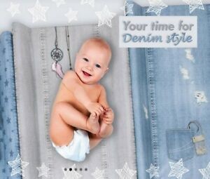 Denim Style collection BABY CHANGING MAT PADDED SOFT BASE 70x50cm NEW line