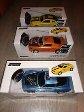 3 x Radio Remote Control Cars Orange, Yellow and Blue