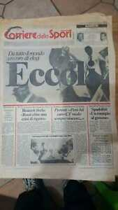 CORRIERE DELLO SPORT 13 luglio 1982- ARRIVO A ROMA CAMPIONI DEL MONDO