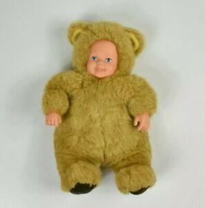 Anne Geddes Baby Doll Brown Bear Vintage 90s Toy 22cm