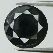 3.43 Ct Natural Loose Diamond Black Color Round I3 Clarity 9.00 MM KR1999