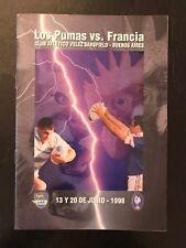 0014-Argentina V Francia 1998 programas de junio de 20th 20/06/1998 Los Pumas Rugby