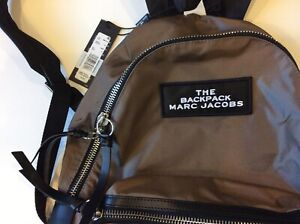 Marc Jacobs The Large Backpack M0015414  Khaki Nylon with Black Leather $128.