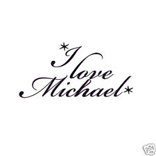 I Love Michael Personalized Boyfriend Temporary Tattoo Pack - 6 tats per pack