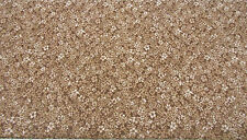 by the half yard ~ Brown Confetti Floral Tone on Tone 100% Cotton Fabric BTHY