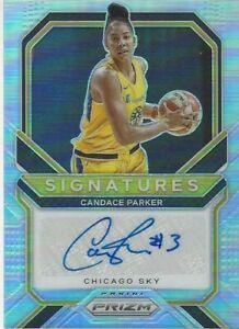 2021 WNBA PANINI * CANDACE PARKER * SILVER PRIZM SIGNATURES AUTOGRAPH CARD SKY