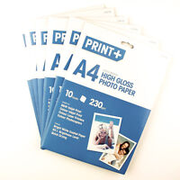A4 High Gloss Bright White Coated Inkjet Laser Printer Photo Paper Sheets 230gsm