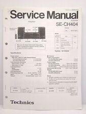 Technics Original Service Manual + Supplement Page SE-CH404 Amplifier