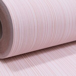 Plain Light Blush Pink Textured Vinyl Thick Quality Wallpaper Paste the Wall