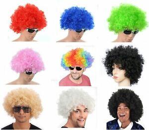 Afro Wig Fancy Dress Wigs Funky Disco Clown Style Men/Ladies Costume 70's Hair