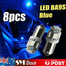 8PCS BA9S 5050 5SMD T11 Led Vehicle Interior Map Dome Roof License Plate Lights