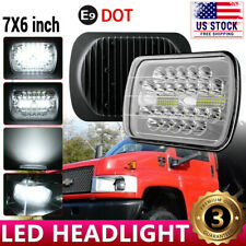 "DOT 7x6"" LED Headlight Hi-Lo Halo DRL For Chevy Express Cargo Van 1500 2500 3500"
