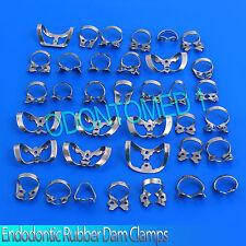 40 Endodontic Rubber Dam Clamp Dental Instruments Endo