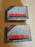 (2) Machete Special Limited Edition Premium Trading Cards Brand New